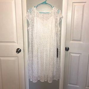 6eb4bb6784 Avenue Dresses - NEW White Lace Fit   Flare Dress - Size 18 20